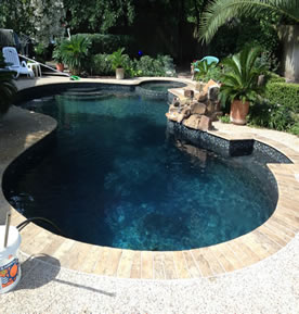 pool with clean deck