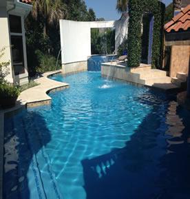 pool with mini falls